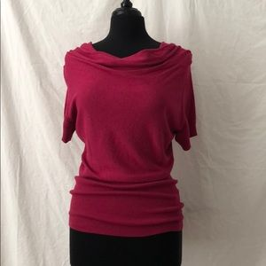 Drape Neck Pullover Sweater, Size M